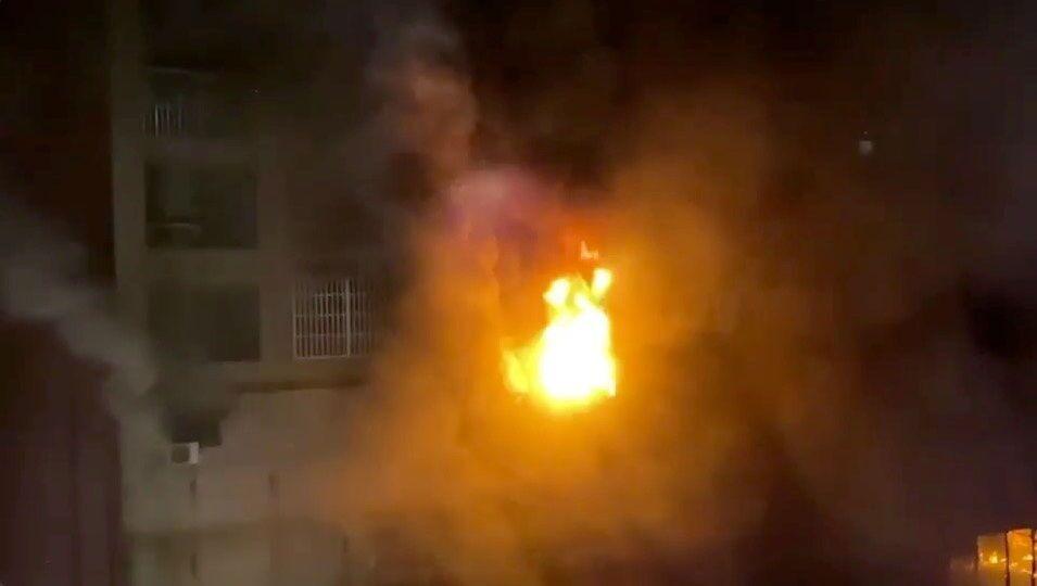 حريق مبنى سكني في تايوان