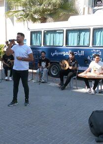 باص الموسيقى ضمن فعاليات مهرجان البحر والحرية السادس، قطاع غزة، فلسطين