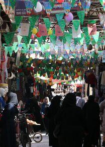 مدينة حلب تتزين احتفالاً بذكرى المولد النبوي، سوريا 18 أكتوبر 2021
