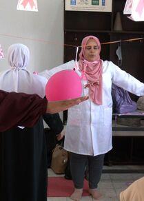 فعاليات التوعية بسرطان الثدي في مدينة غزة،  قطاع غزة، فلطسين 21 أكتوبر 2021