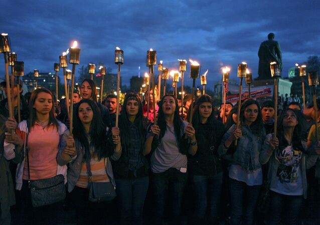 تكريم ذكرى ضحايا المذابح ضد الأرمن في عام 1915