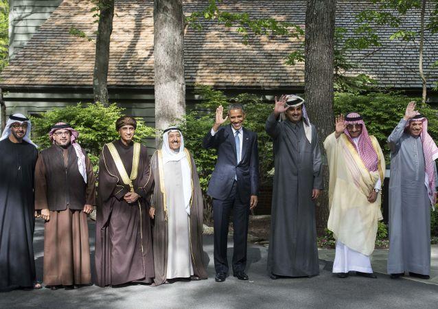 أوباما مع زعماء دول مجلس التعاون الخليجي في كامب ديفيد