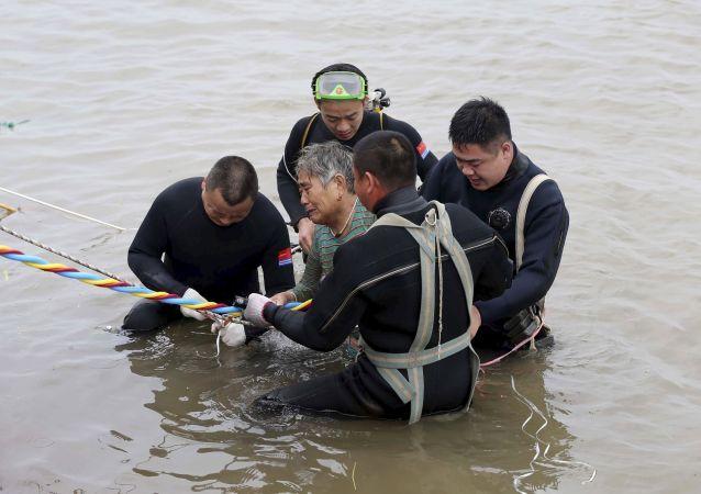 حادث غرق سفينة في الصين