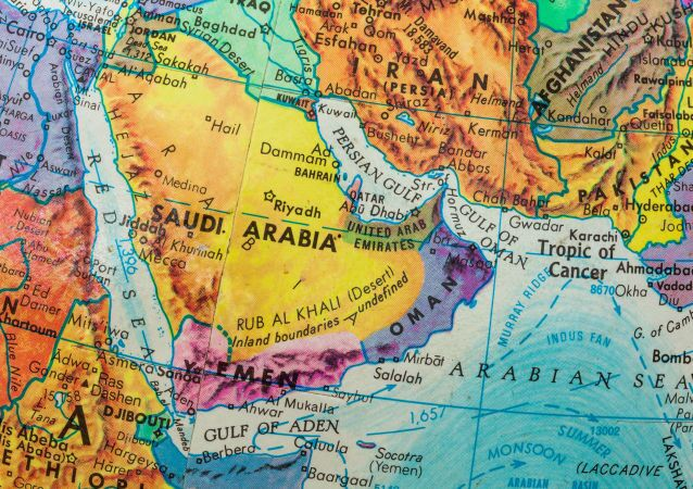خريطة الشرق الأوسط ودول الخليح