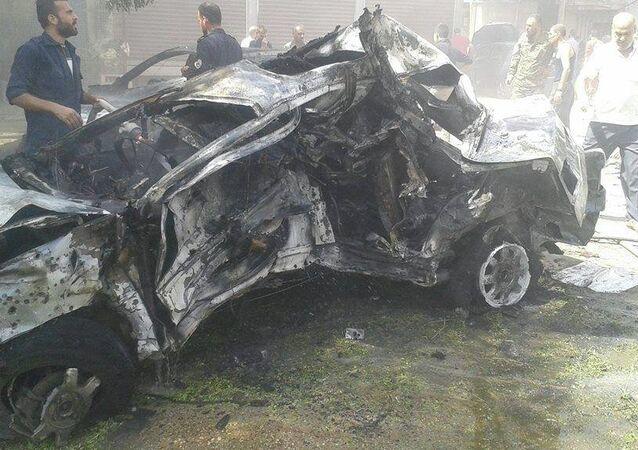 التفجير الارهابي في حمص