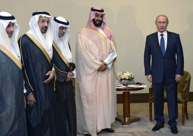 الرئيس فلاديمير بوتين ومحمد بن سلمان آل سعود