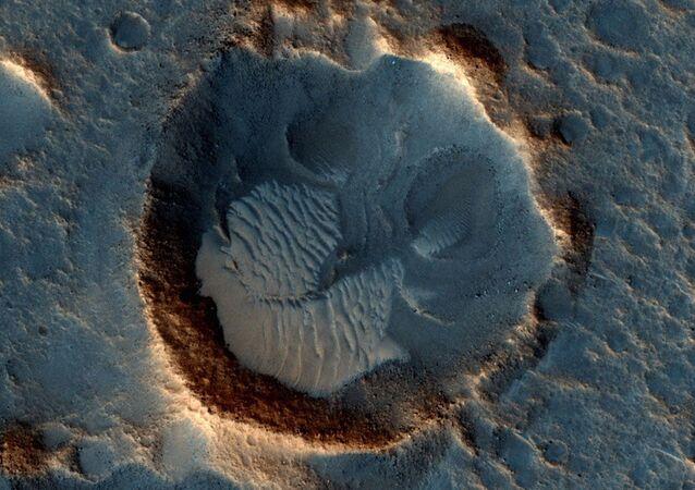 صورة من على سطح كوكب المريخ