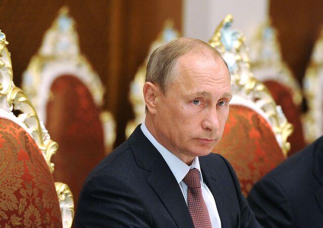 الرئيس فلاديمير بوتين في الكرملين