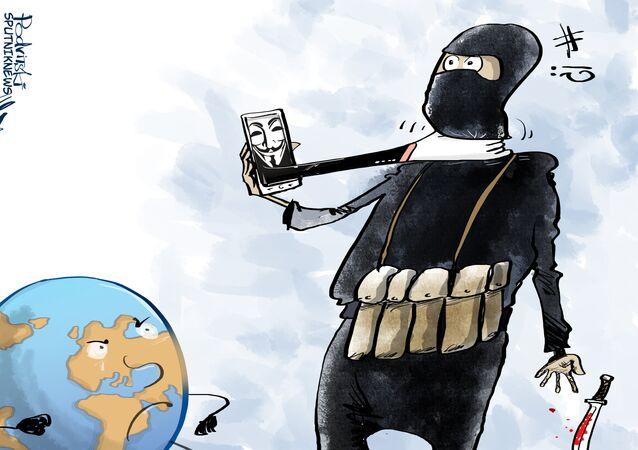 الهاكرز المجهولون يعلنون حربا على داعش
