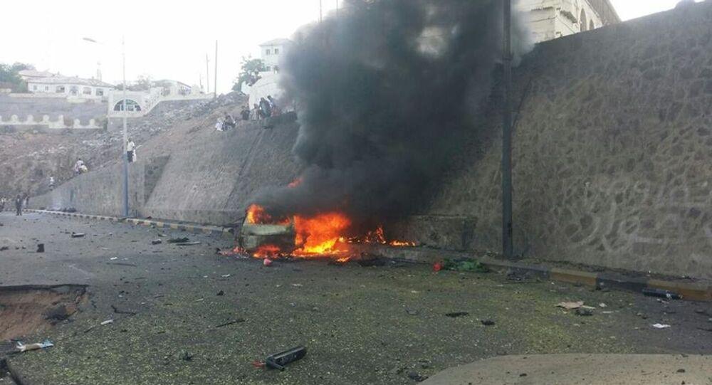 تفجير سيارة محافظ عدن