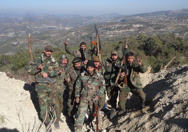الجيش السوري في ريف اللاذقية