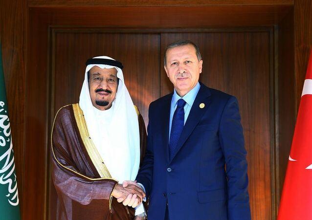 اردوغان والملك سلمان