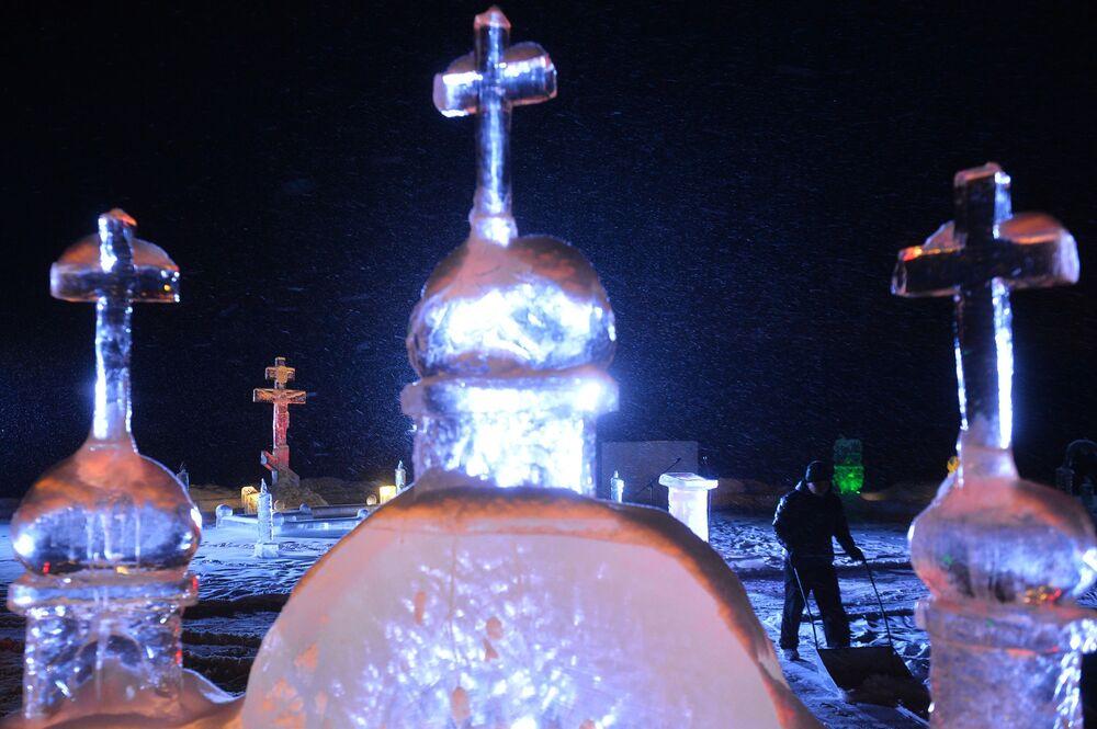 عيد الغطاس في مدن روسيا المختلفة