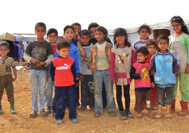 مخيم للاجئين السوريين في البقاع