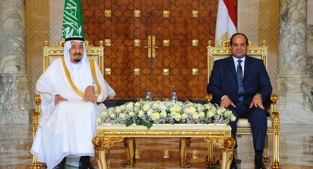 الرئيس المصري عبدالفتاح السيسي والملك السعودي سلمان بن عبدالعزيز