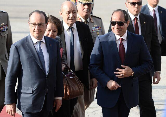 الرئيس المصري عبدالفتاح السيسي والرئيس الفرنسي فرانسوا هولاند
