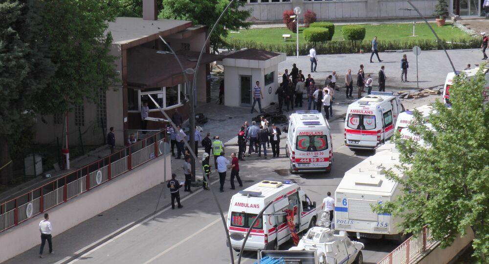 تفجير سيارة مفغغة في مدينة غازي عنتاب التركية