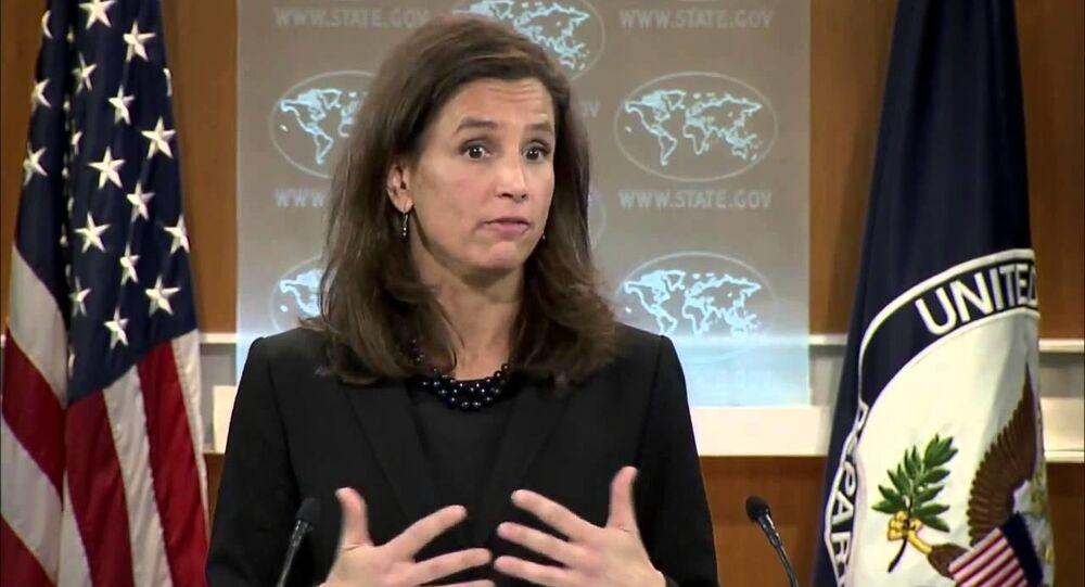 المتحدثة باسم الخارجية الأمريكية إليزابيث ترودو
