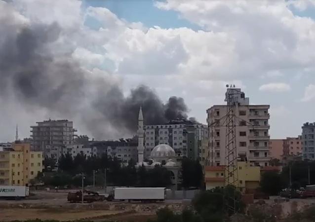 تفجير إرهابي في مدينة ماردين التركية (فيديو)
