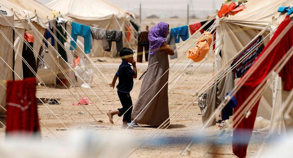 مخيم للاجئين في مدينة عامرية الفلوجة بجنوب الفلوجة، العراق 8 يونيو/ حزيران 2016.