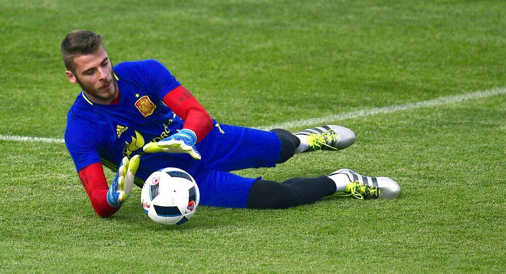 حارس الفريق الإسباني ديفيد دي خيا