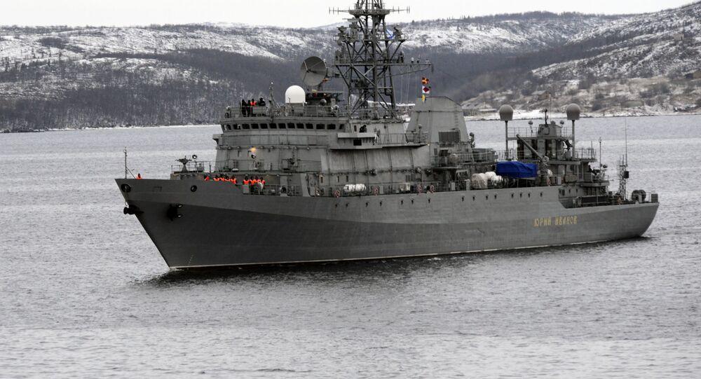 سفينة استطلاع عسكرية روسية