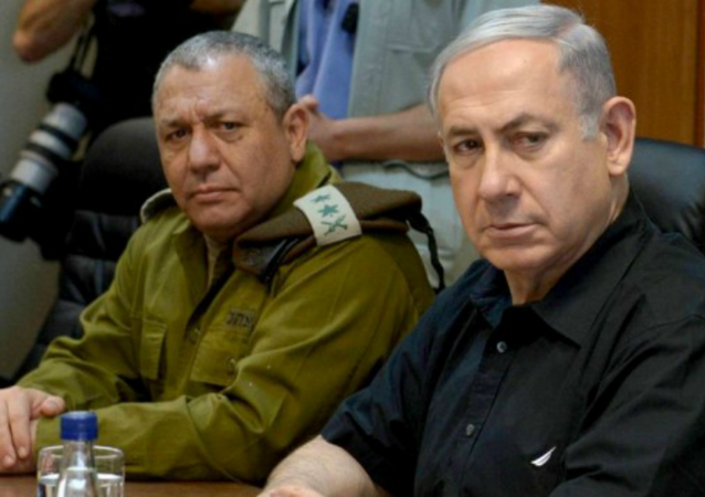 رئيس هيئة الأركان العامة الاسرائيلي الجنرال غادي ايزنكوت