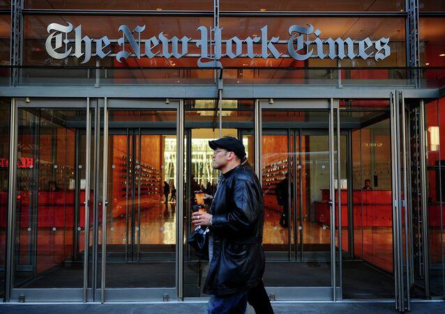 مقر صحيفة نيويورك تايمز في نيويورك