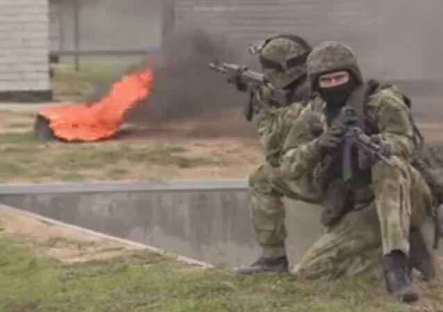 قوات الحرس الوطني الروسي فى موسكو