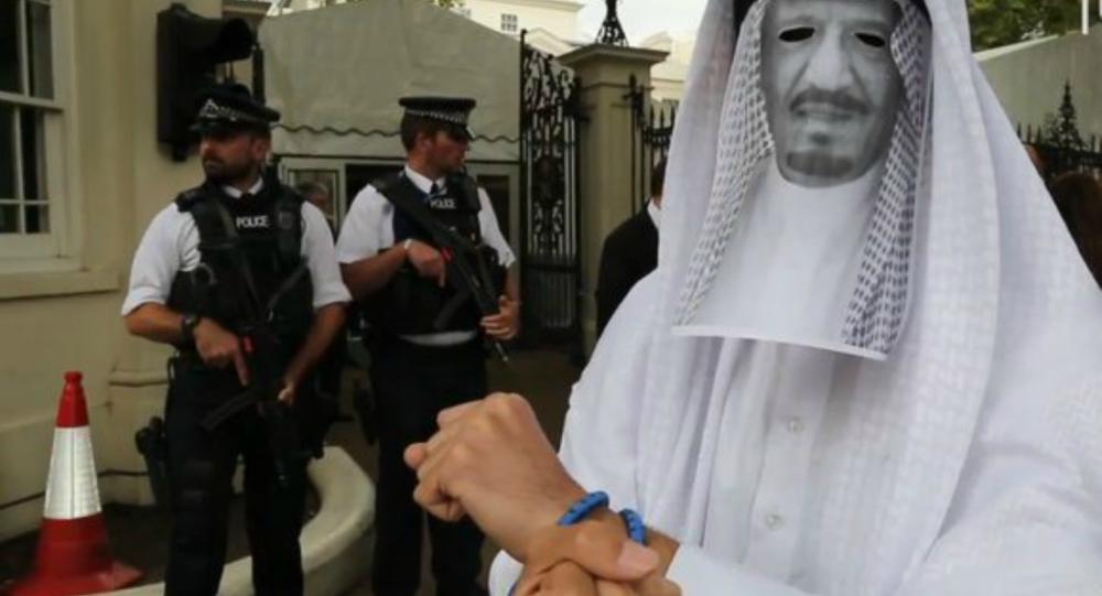 مجسم لاعتقال الملك سلمان