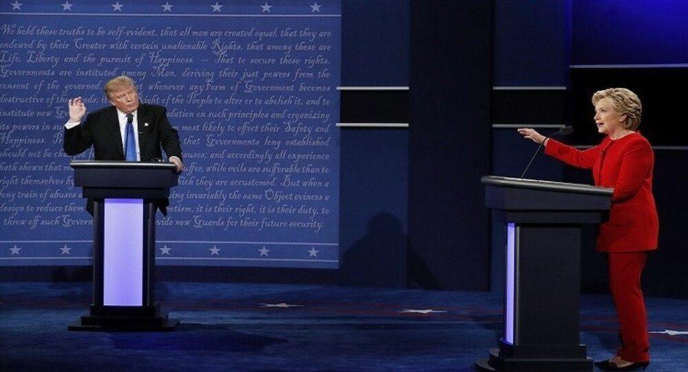 كلينتون وترامب مناظرة