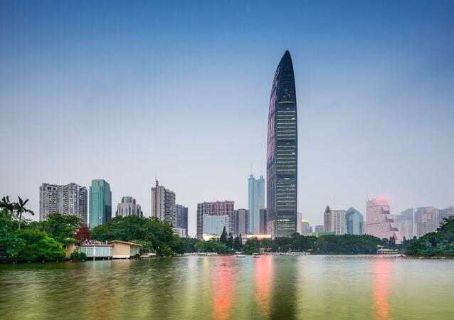 ناطحة سحاب كينغكي 100 (Kingkey 100) في مدينة شنجن بالصين