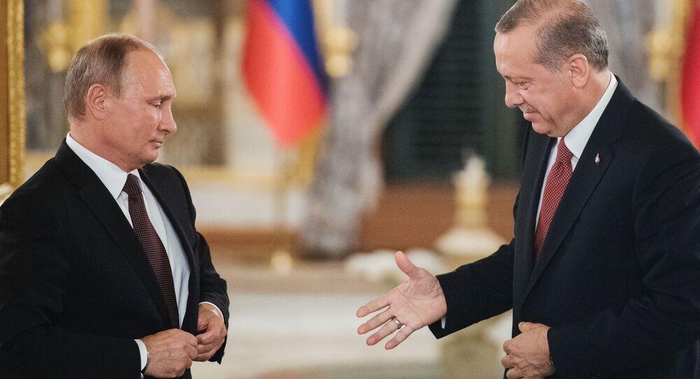 الرئيس فلاديمير بوتين يلتقي بالرئيس رجب طيب أردوغان في اسطنبول
