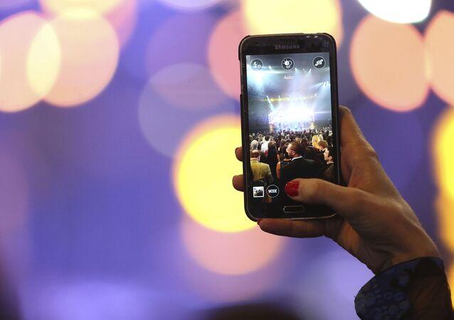 حفل جوائز الموسيقى على هاتف سامسونغ