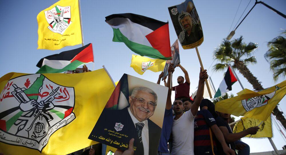 أنصار حركة فتح الفلسطينية برام الله