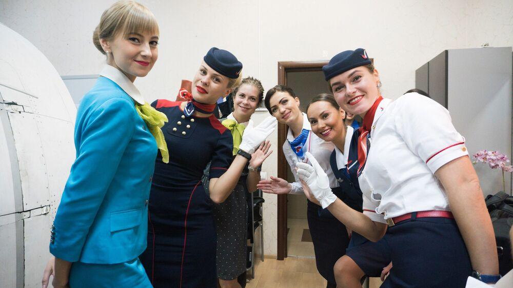 مسابقة أجمل مضيفة طيران في روسيا - المضيفات المشاركات في المسابقة