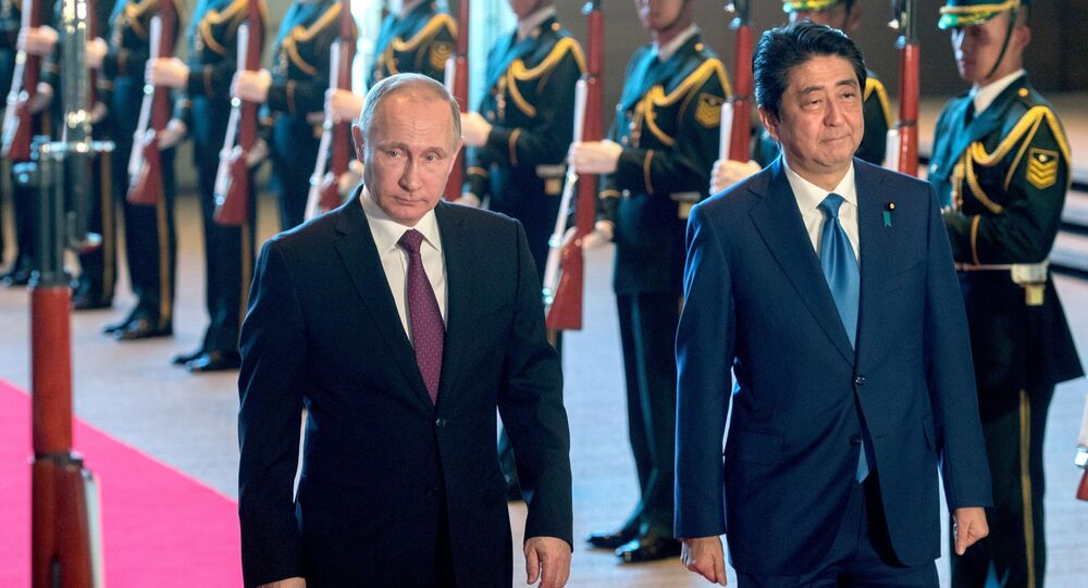 الرئيس الروسي فلاديمير بوتين في زيارة إلى اليابان