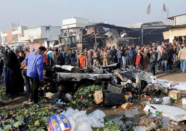 تفجير سوق للخضر شرقي بغداد