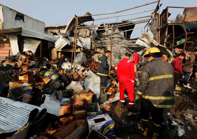 تفجير سوق شعبي شرقي بغداد
