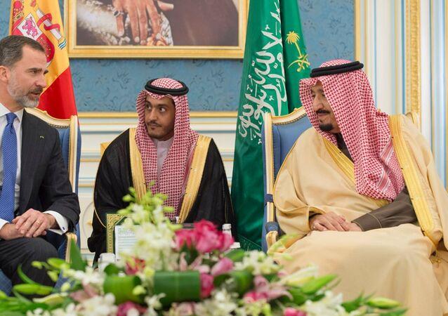 لقاء العاهل السعودي الملك سلمان مع ملك إسبانيا فيليبي السادس
