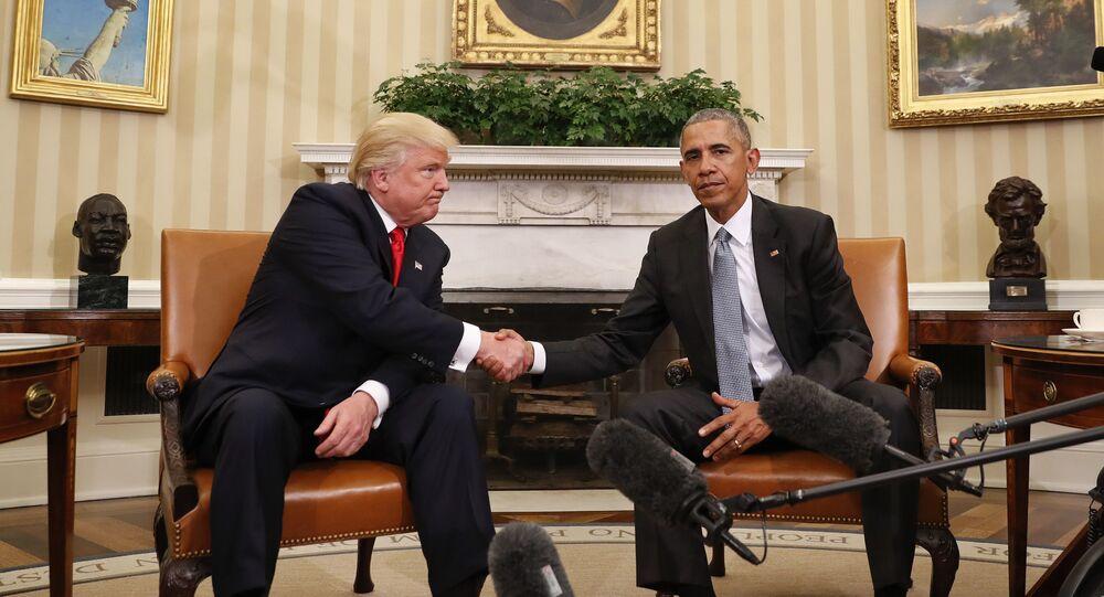 باراك أوباما ودونالد ترامب