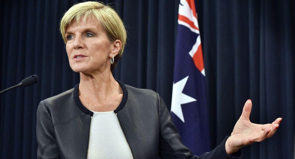 جولي بيشوب وزيرة الخارجية الأسترالية