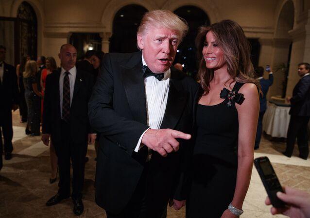 الرئيس الأمريكي دونالد ترامب برفقة زوجته ميلانيا ترامب