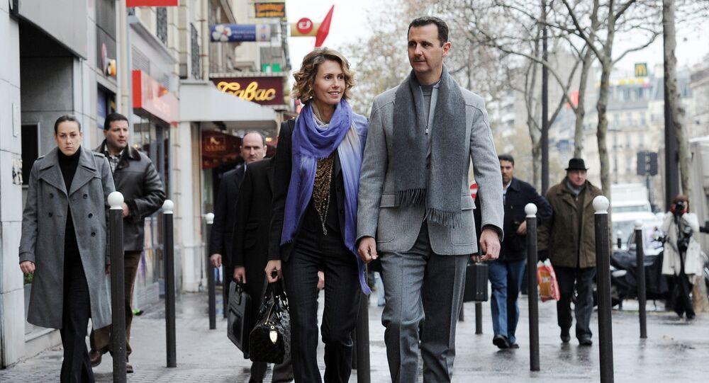 الرئيس السوري بشار الأسد برفقة زوجته أسماء الأسد