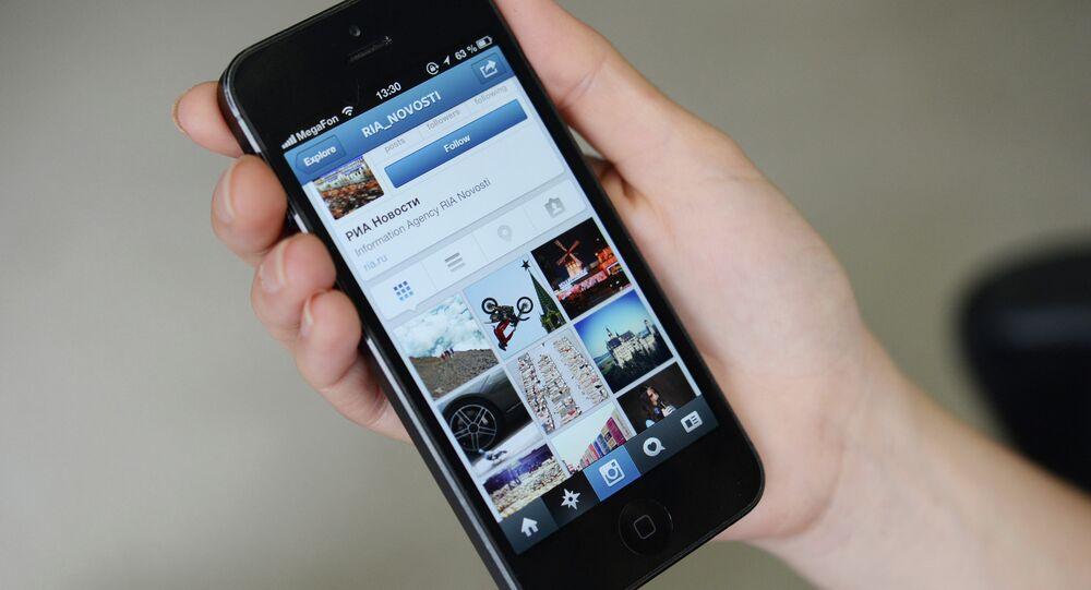 Страница РИА Новости в Instagram