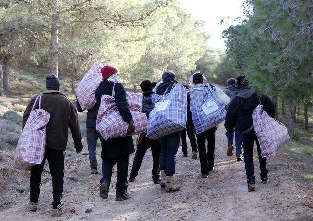 مهاجرون أفارقة على الحدود المغربية الإسبانية
