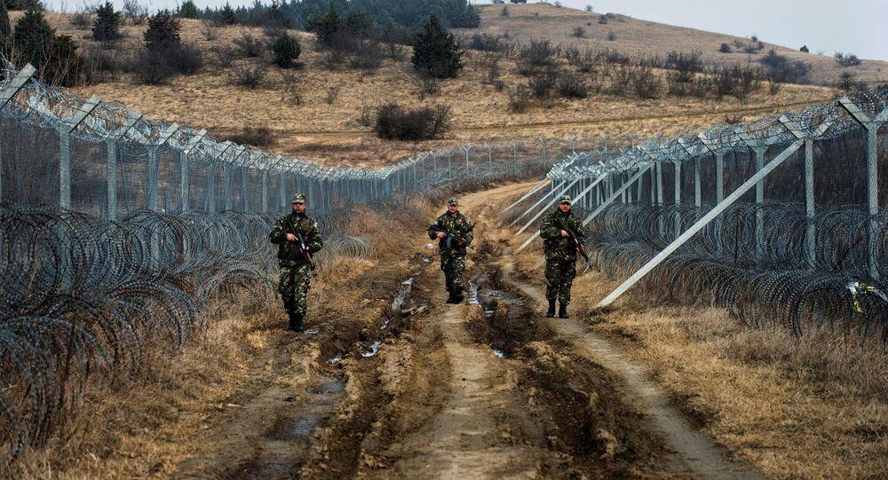 حرس الحدود بين مقدونيا واليونان