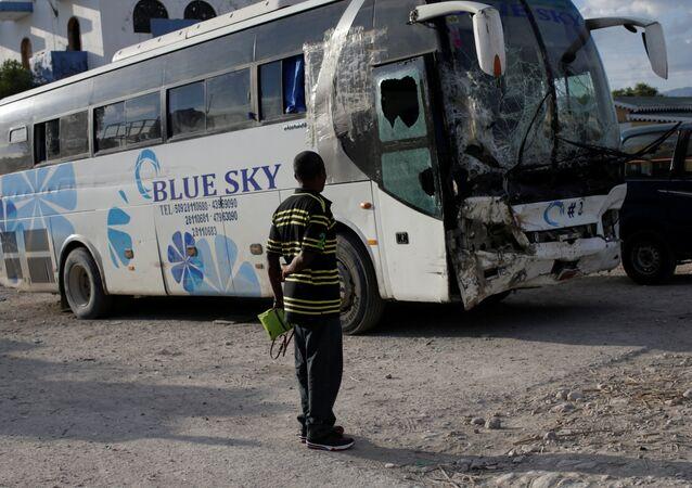 الأتوبيس المتسبب في حادث هايتي