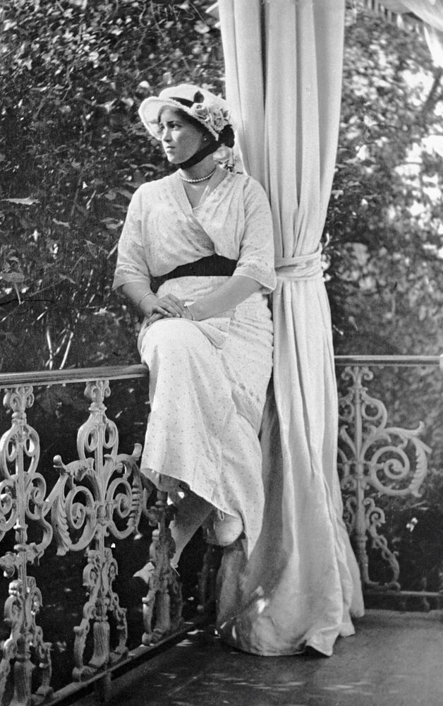 ماريا - ابنة الامبراطور نيكولاي الثاني في تسارسكوي سيلو