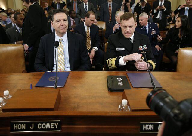 جانب من جلسة لجنة الاستخبارات في الكونغرس